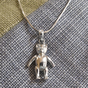 Christening Teddy Necklace