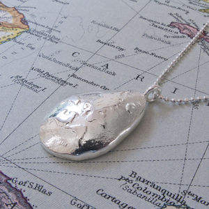 Silver World Is Your Oyster Necklace
