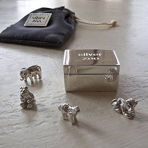 Christening Keepsake Silver Zoo