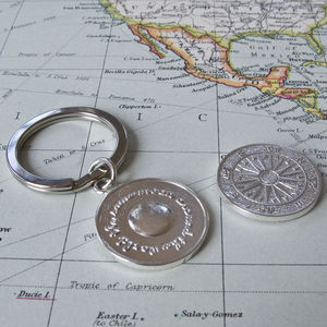 Silver Travel Keyring - men's accessories