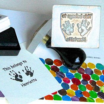 'This Belongs To' Handprint Stamp