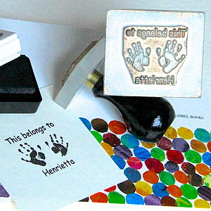 'This Belongs To' Handprint Stamp