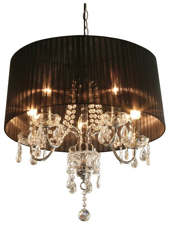 black chandelier with shades | Roselawnlutheran