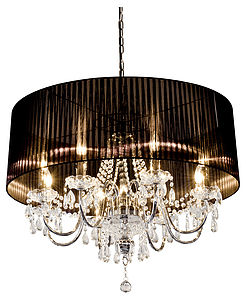 Large Shaded Chandelier - ceiling lights