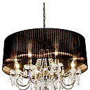 Large Shaded Chandelier