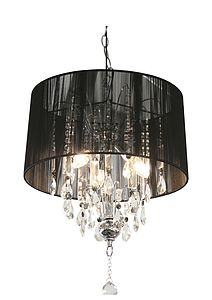 Shaded Crystal Chandelier - ceiling lights