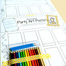 Personalised Party Art Poster