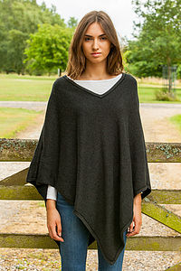 Classic V Neck Poncho - jumpers & cardigans