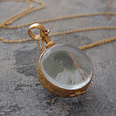 Gold Round Double Sided Locket