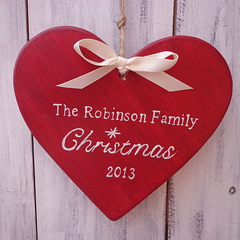 Personalised Family Christmas Heart