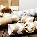 Recycled Metallic Chevron Christmas Crackers