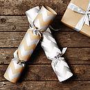 Recycled Metallic Chevron Christmas Crackers