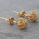 Tiny Gold Nest Stud Earrings