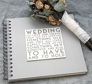 Wedding Album/ Memory Book