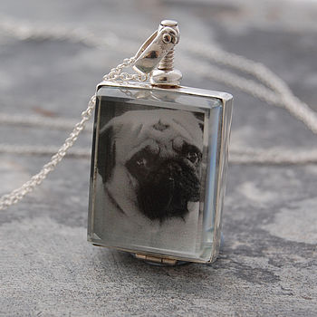 Rectangular Silver Locket Necklace