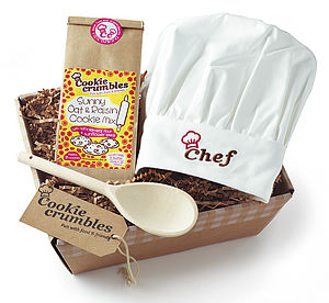 Cookie Mix Gift Box With Chef's Hat - children's cooking