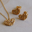 Golden Mesh Heart Set