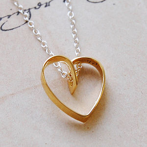 Golden Lace Heart Necklace - gifts for her