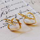 Golden Lace Heart Earrings