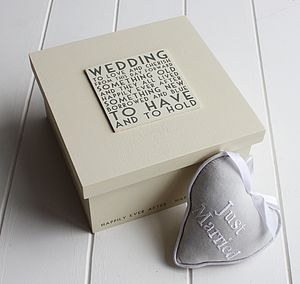 Wedding Keepsake Box - ribbon & wrap