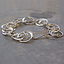 Sterling Silver Rings Of Saturn Bracelet