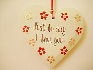 'Just To Say I Love You' Heart - message tokens