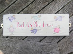 Bespoke Fairy Play House Sign - art & decorations