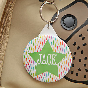 Personalised School Or Lunch Box Bag Tag - keepsakes
