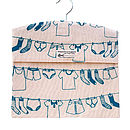 Screen Printed Laundry Design Peg Bags