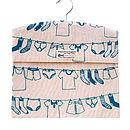 Screen Printed Laundry Design Peg Bags