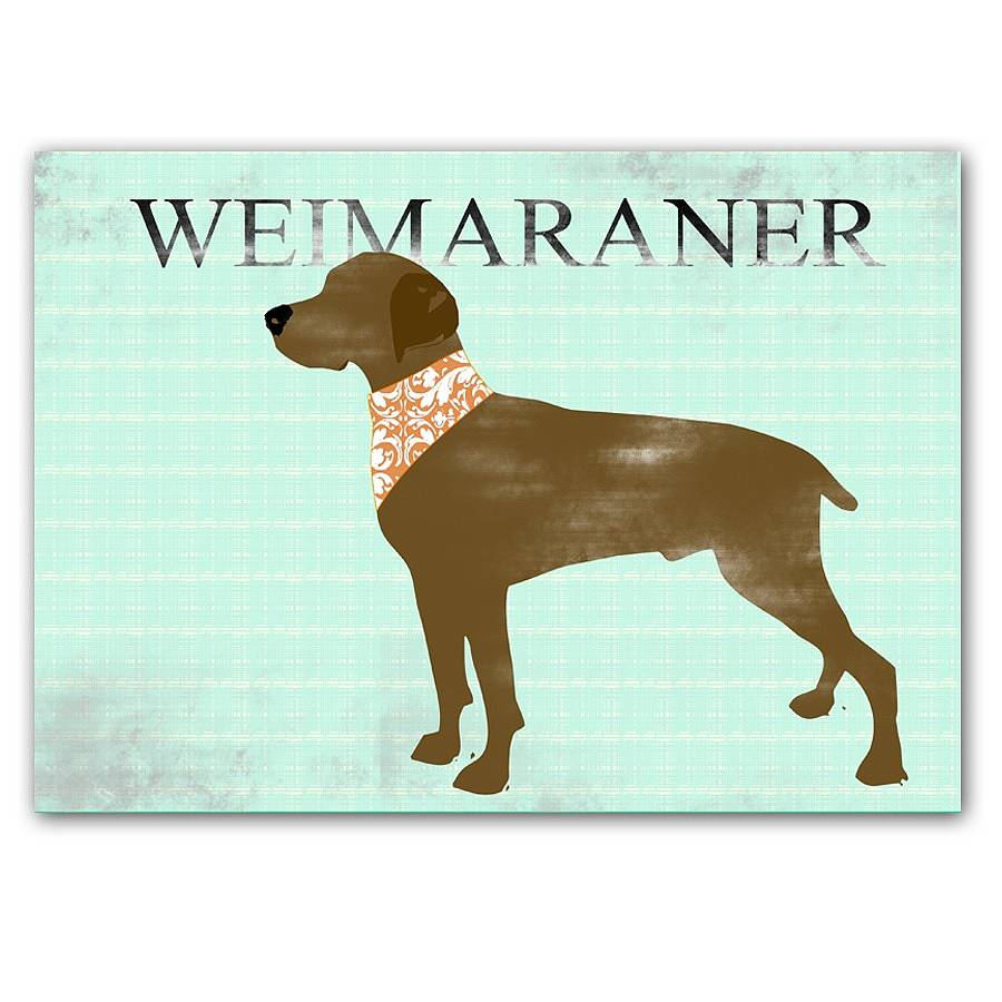 weimaraner dog in brown fine art print by indira albert ...