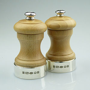 Silver And Beech Peugeot Peppermill - kitchen accessories