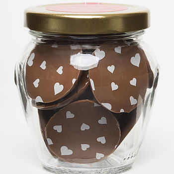 Heart Chocolate Buttons