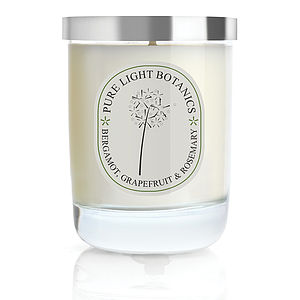 Invigorating Bergamot And Grapefruit Natural Candle - candles & home fragrance