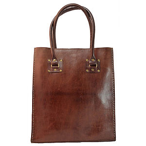 Classic Leather Tote - holdalls & weekend bags