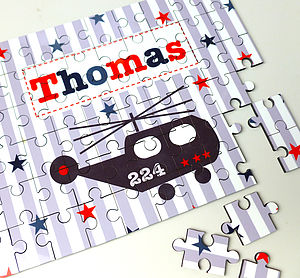 Boys Personalised Wooden Jigsaw Puzzle - toys & games