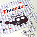 Boy's Personalised Wooden Jigsaw Puzzle