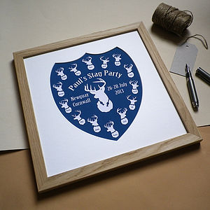 Personalised Stag Party Print - shop by price