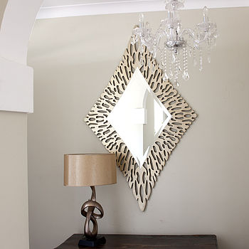 Gold Diamond Shaped Mirror