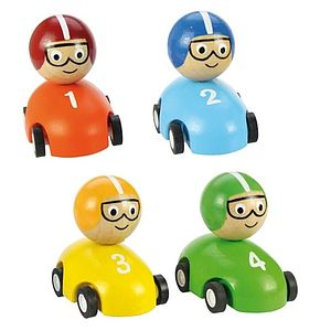 Set Of Four Pull Back Toy Racing Cars