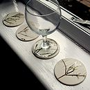 Handmade Coasters With Flowers And Leaves