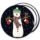 ''Christmas Snowmen'' Stocking Filler Mirror