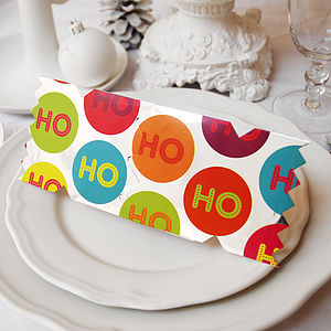 Candyland Baubles Christmas Cracker Card - table decorations