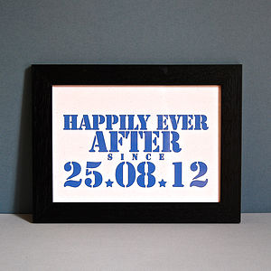 Personalised Happily Ever After Unframed Date Print - view all sale items