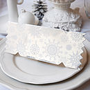 Silver Winter Lace Christmas Cracker Card