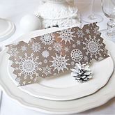 Gold Winter Lace Christmas Cracker Card - christmas decorations