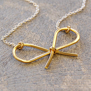 Golden Bow Necklace - jewellery sets