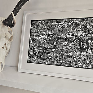 Literary London Map Art Print - view all gifts for her