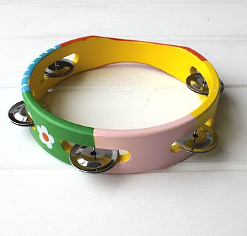 Traditional Hand Painted Tambourine
