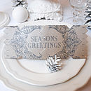 Seasons Black Christmas Cracker Card